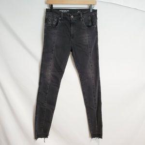AG Jean's The Farrah high rise skinny jeans